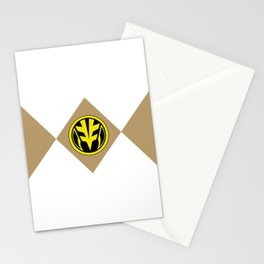 MMPR White Coin Stationery Cards