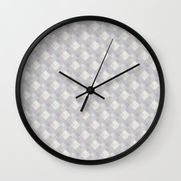 Light purple rhombuses. Wall Clock