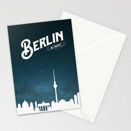 Berlin skyline by night Stationery Cards