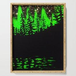 Green Light Display Serving Tray