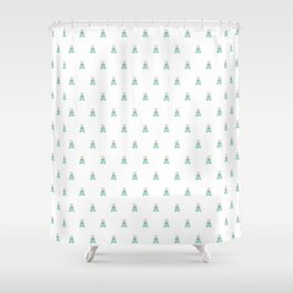 Blue Moth Shower Curtain