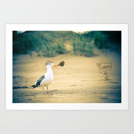 rebel gull. Art Print