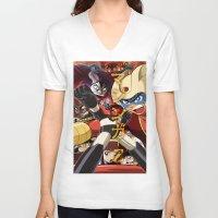manga V-neck T-shirts featuring Manga 07 by Zuno