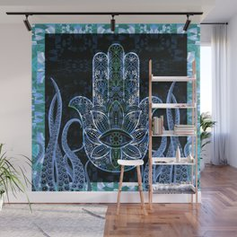 Hamsa Octopus Love and Welcome Boho Print Wall Mural
