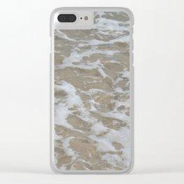 Foam of the ocean Clear iPhone Case