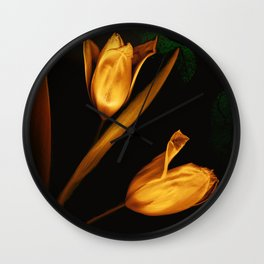Tulips of the golden age Wall Clock