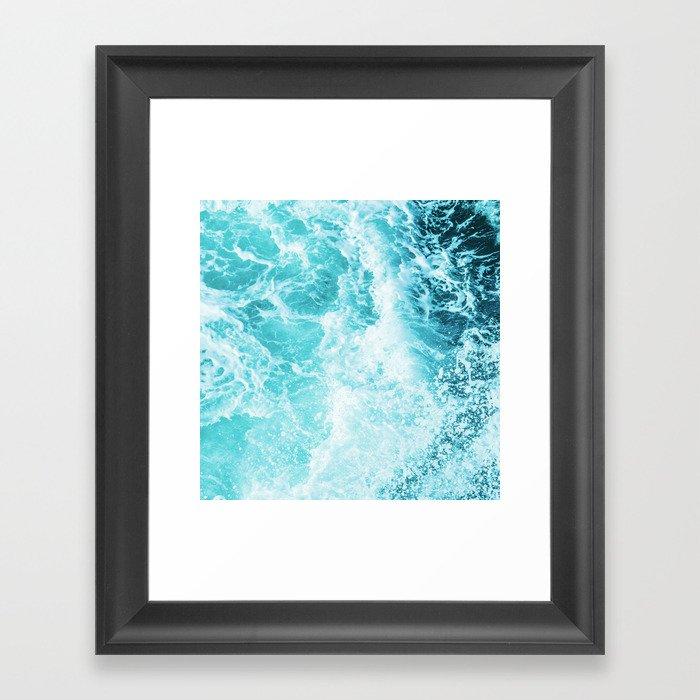 Perfect Sea Waves Gerahmter Kunstdruck