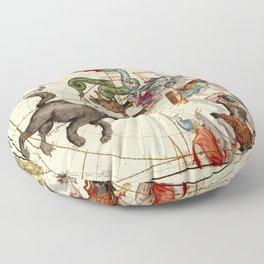 Globi Coelestis Plate 1 Floor Pillow