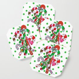 Candy Cane Party Coaster