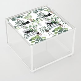 cats in the interior pattern Acrylic Box