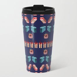 Christmas present sweater pattern Travel Mug