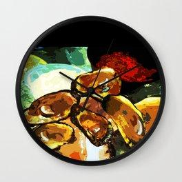 NOLA oysters Wall Clock