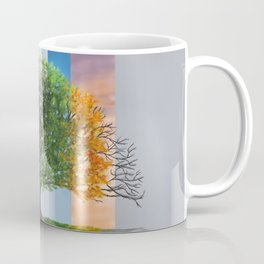 Digital painting of the seasons of the year in a tree Coffee Mug