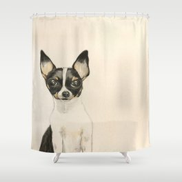 Chihuahua - the tiny dog Shower Curtain