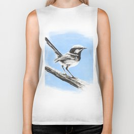 Superb Blue Wren Biker Tank