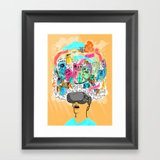 Adventures in the Oculus Rift Framed Art Print