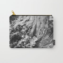 Running hand through the water, under the blue again black and white photograph / art photography Carry-All Pouch