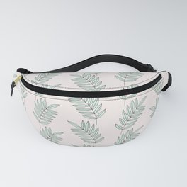 Hey Ya / Beige Green Leaves Pattern Fanny Pack