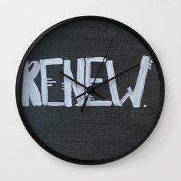 Renew. Wall Clock