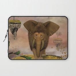 Awesome and funny elephant lion Laptop Sleeve