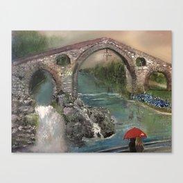 The Roman Bridge, Asturias  Canvas Print