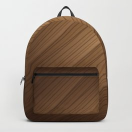 Slanted Texture On Wood Backpack