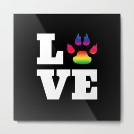 Rainbow paw Metal Print