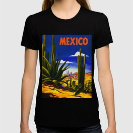 Vintage Mexico Village Travel T-shirt