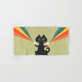 Ray gun cat Hand & Bath Towel