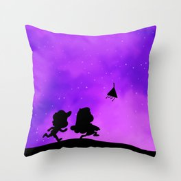 Gravity Falls - Purple Throw Pillow