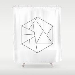 HEXAGONE Shower Curtain