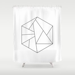 HEXAGONE Shower Curtain