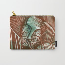 Don Quixote in Green and Rust Carry-All Pouch
