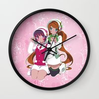 yaoi Wall Clocks featuring Lulu X Ginko by Neo Crystal Tokyo