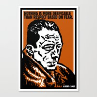 camus Canvas Prints featuring ALBERT CAMUS QUOTATION by Lestaret