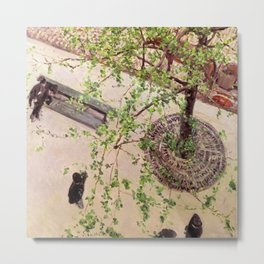 "Gustave Caillebotte ""The Boulevard Viewed from Above"" Metal Print"