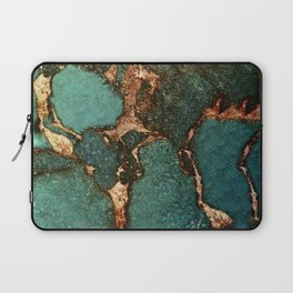 EMERALD AND GOLD Laptop Sleeve