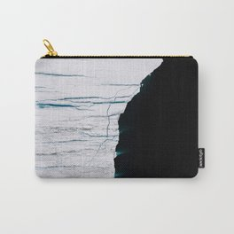 Black and White - Abstract minimal Iceberg aerial view in Greenland - Landscape Photography Carry-All Pouch
