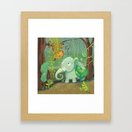 Jungle Babies Framed Art Print