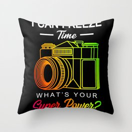 Freeze Time Photography Gift Throw Pillow