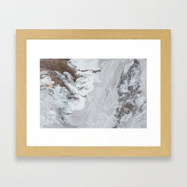 Winter Copper Framed Art Print