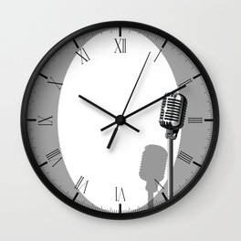 Musical Event Microphone Poster Wall Clock