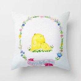 Mother's Day Birds Throw Pillow