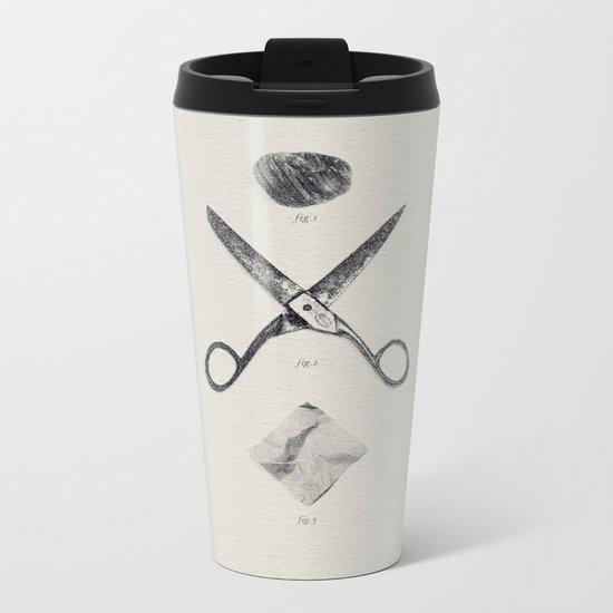 ROCK / SCISSORS / PAPER Metal Travel Mug