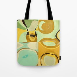 RETRO Mid Century Modern Pattern Abstract Geometric Art by Michel Keck Tote Bag