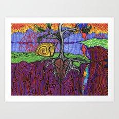 Garnet Dream Art Print