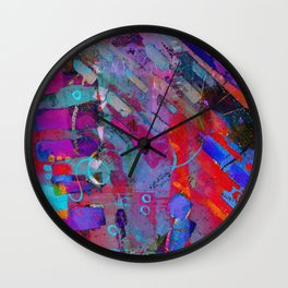 Colorful Textures Wall Clock