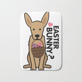 Golden Easter Funny for Boys Girls Love Dog Puppy Bath Mat
