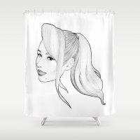iggy azalea Shower Curtains featuring IGGY AZALEA by marcsaisofficial