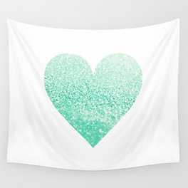 SEAFOAM HEART Wall Tapestry